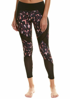 Betsey Johnson Women's MIXED MEDIA PATCHWORK 7/8 LEGGING  EXTRA SMALL