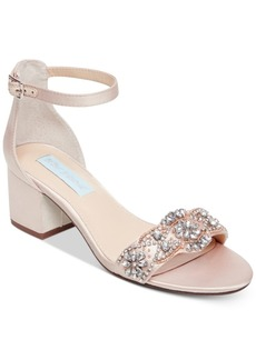 Betsey Johnson Women's Wide Mel Block Heel Sandal Women's Shoes