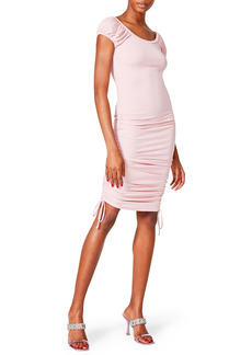 Betsey Johnson Ribbed Cap Sleeve Dress