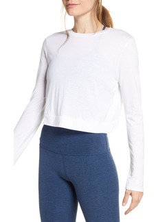 Women's Beyond Yoga Back Out Crop Pullover