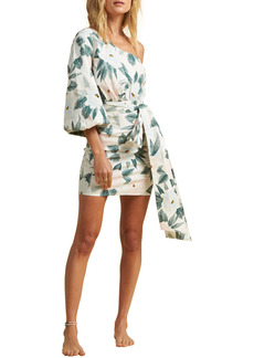 Billabong x The Salty Blonde Sunkissed Print One-Shoulder Minidress