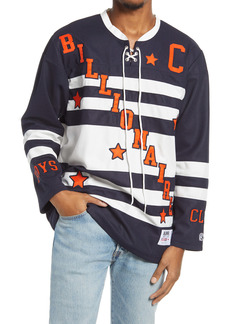 Billionaire Boys Club Logo Stripe Lace-Up Henley