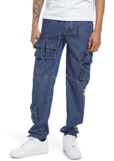 Billionaire Boys Club Men's Half Moon Denim Cargo Pants
