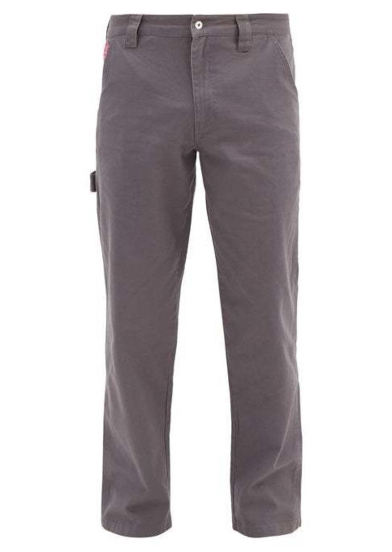 Billionaire Boys Club Painter Astro-embroidered cotton-twill trousers
