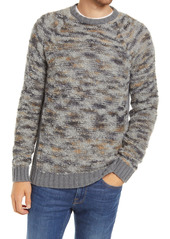 Billy Reid Space Dye Bouclé Wool Blend Crewneck Sweater