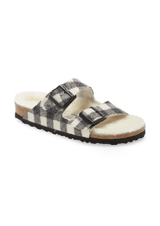 Birkenstock Arizona Genuine Shearling Slide Sandal (Women)