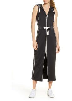 Blanc Noir Vista Sleeveless Hooded Midi Track Dress