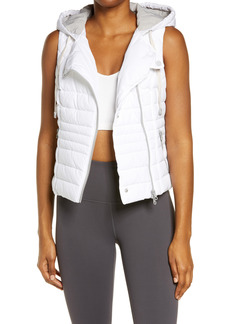 Women's Blanc Noir Solitaire Hooded Quilted Vest