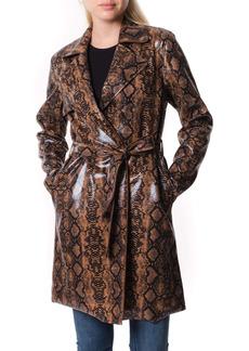 BLANKNYC Faux Snakeskin Trench Coat