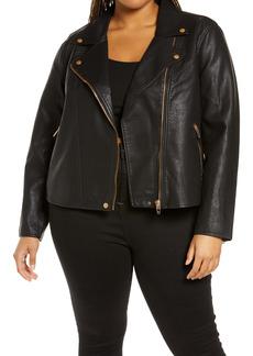 BLANKNYC Lifechanger Faux Leather Moto Jacket (Plus Size)