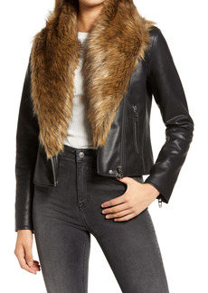 BLANKNYC Night Fever Faux Leather Moto Jacket