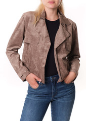 BLANKNYC Seal the Deal Faux Suede Crop Trench