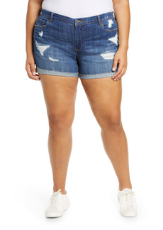 BLANKNYC Sunday Drive Deconstructed Shorts (Plus Size)