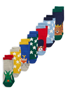 Boden Kids' Assorted 7-Pack Crew Socks