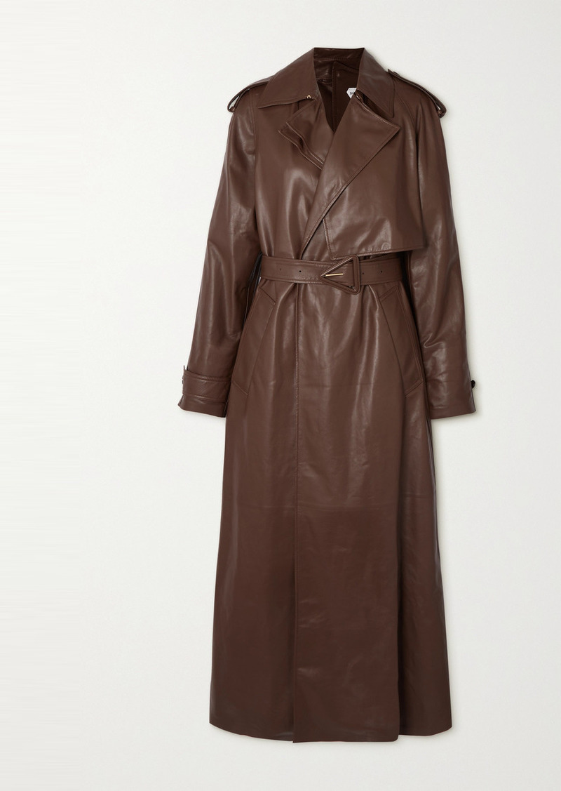 Bottega Veneta Belted Leather Trench Coat
