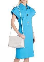 Bottega Veneta Bottega Venenta Intrecciato Medium Flap Crossbody Bag