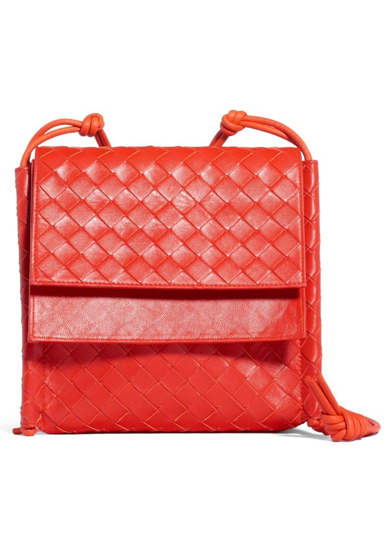 Bottega Veneta Bottega Venenta Intrecciato Small Flap Crossbody Bag