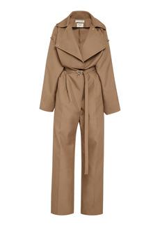 Bottega Veneta - Women's Belted Full-Length Twill Jumpsuit - Neutral - Moda Operandi