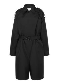 Bottega Veneta - Women's Belted Gabardine Jumpsuit - Black - Moda Operandi
