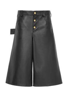 Bottega Veneta - Women's Leather Shorts  - Black - Moda Operandi
