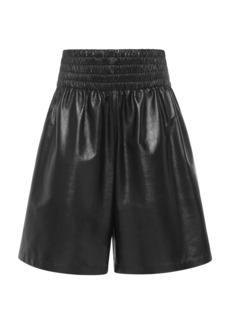 Bottega Veneta - Women's Leather Shorts - Black/yellow - Moda Operandi
