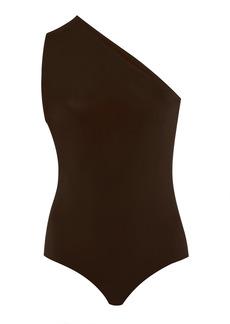 Bottega Veneta - Women's One-Shoulder Stretch-Jersey Swimsuit  - Orange/brown - Moda Operandi