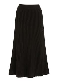 Bottega Veneta - Women's Ribbed-Knit Wool Midi Skirt - Brown - Moda Operandi