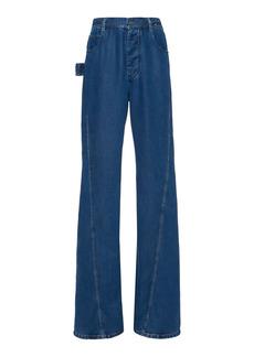 Bottega Veneta - Women's Rigid High-Rise Flared-Leg Jeans - Medium Wash - Moda Operandi