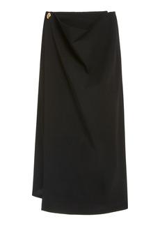 Bottega Veneta - Women's Wrap-Detailed Wool Skirt - Black - Moda Operandi