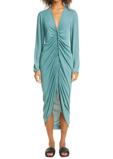 Bottega Veneta Cinch Front Long Sleeve Dress