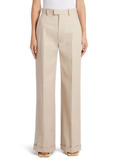 Bottega Veneta Cotton Twill Cuff Pants
