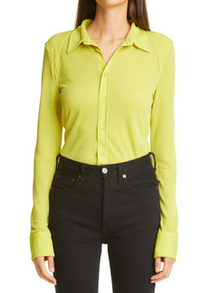 Bottega Veneta Crepe Jersey Button Front Blouse