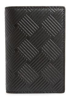 Bottega Veneta Embossed Leather Card Case