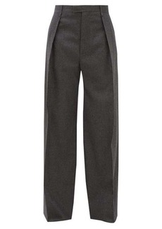 Bottega Veneta High-rise wool-blend flannel wide-leg trousers