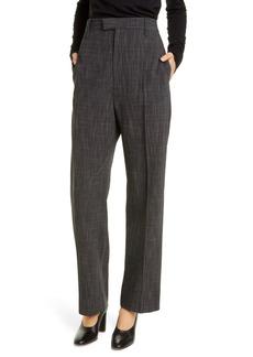 Bottega Veneta High Waist Cross Weave Pants