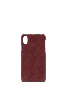 Bottega Veneta Intrecciato iPhone X leather phone case
