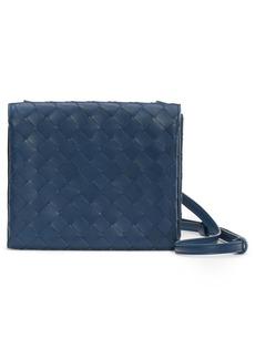 Bottega Veneta Intrecciato Leather Flap Crossbody Bag