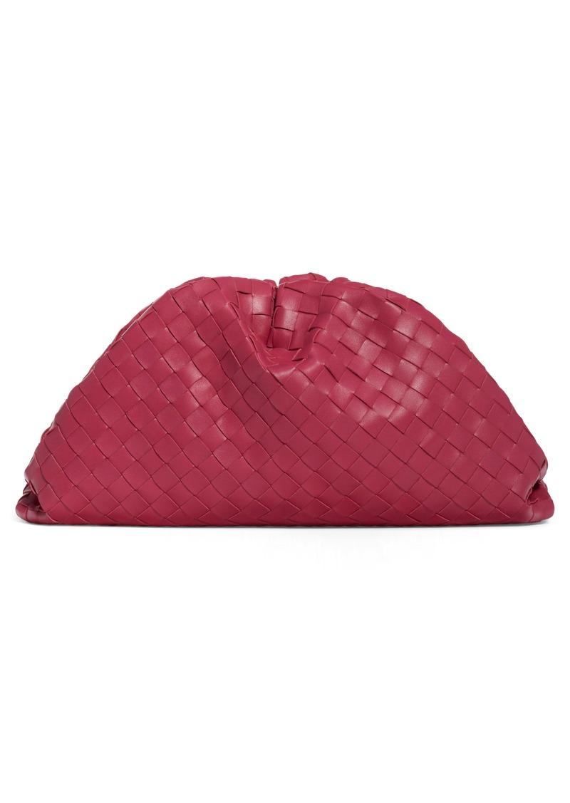Bottega Veneta Intreciato Pouch Leather Clutch