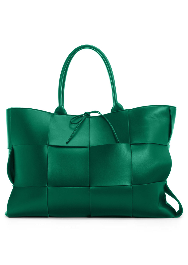 Bottega Veneta Large Arco Intrecciato Metallic Leather Tote