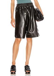 Bottega Veneta Leather Bermuda Short
