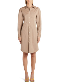 Bottega Veneta Long Sleeve Compact Stretch Poplin Dress