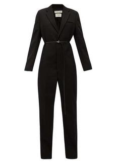 Bottega Veneta Notch-lapel wool tuxedo jumpsuit