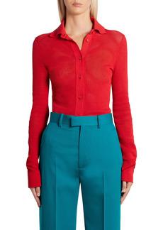 Bottega Veneta Pointelle Knit Mesh Shirt