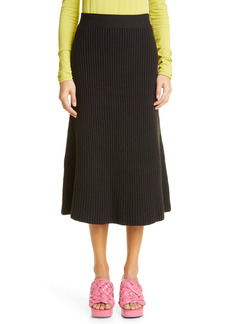 Bottega Veneta Rib Knit Midi Skirt