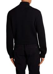 Bottega Veneta Rib Zip Wool Cardigan
