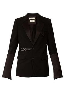 Bottega Veneta Satin-trim belted single-breasted wool blazer