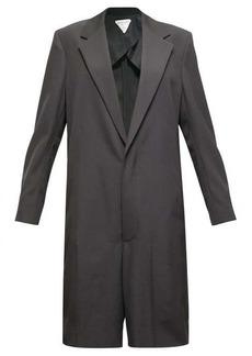 Bottega Veneta Single-breasted wool-twill playsuit