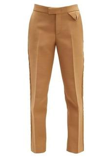 Bottega Veneta Tailored canvas straight-leg trousers