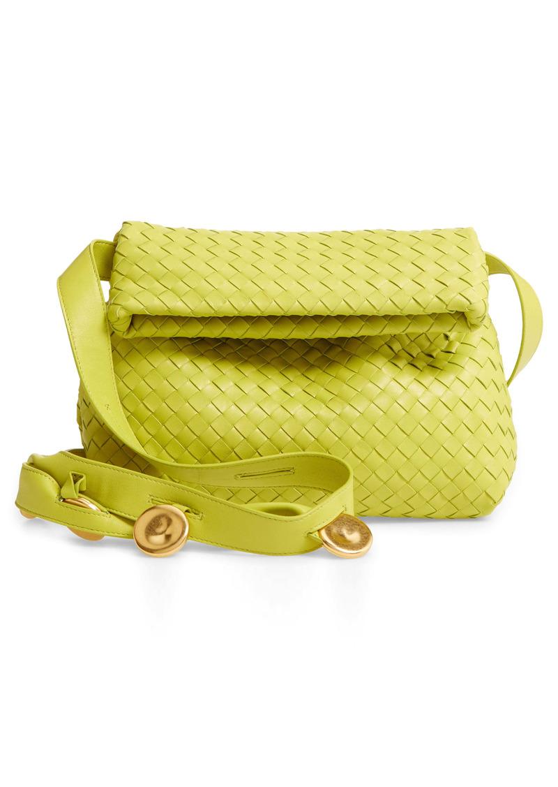 Bottega Veneta The Fold Padded Intrecciato Leather Crossbody Bag