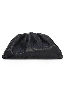 Bottega Veneta The Pouch Bark Embossed Leather Clutch - Black